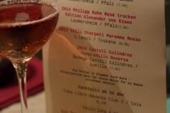 Küchenparty-Weinkarte